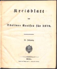 Kreisblatt des Cösliner Kreises 1879