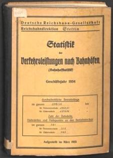 Statistik der Verkehrsleistungen nach Bahnhofen (Bahnhofsstatistik)[1935]
