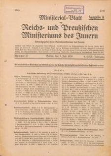Ministerial Blatt des Reichs und Preussischen Ministeriums des Innern