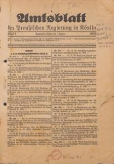 Amtsblatt der Preuβischen Regierung zu Köslin 1939