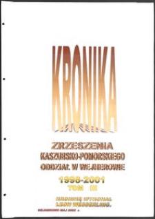 Kronika Zrzeszenia Kaszubsko-Pomorskiego. Oddział w Wejherowie. T. 5 (2001)