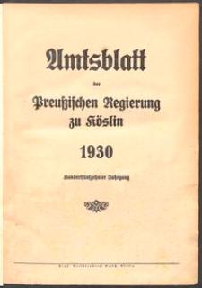 Amtsblatt der Preuβischen Regierung zu Köslin 1930