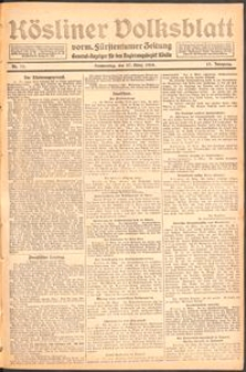 Kösliner Volksblatt [1919] Nr. 73