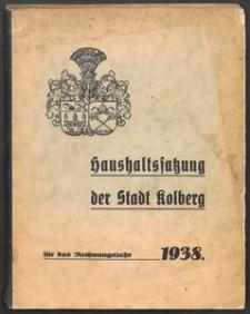 Haushaltssatzung der Stadt Kolberg für das Rechnungsjahr
