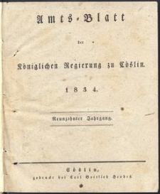 Amts-Blatt der Königlichen Regierung zu Cöslin 1834