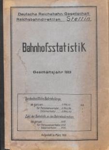 Bahnhofsstatistik [1930]