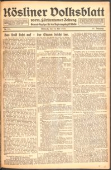 Kösliner Volksblatt [1919-05] Nr. 111