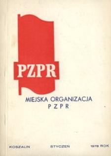 Podstawowe dane o Miejskiej Organizacji PZPR w Koszalinie