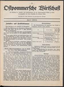 Ostpommersche Wirtschaft, Juli 1934, [Nummer 4]
