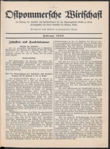 Ostpommersche Wirtschaft, Februar 1935, [Nummer 1]