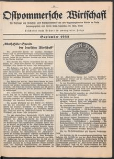 Ostpommersche Wirtschaft, September 1935, [Nummer 5]