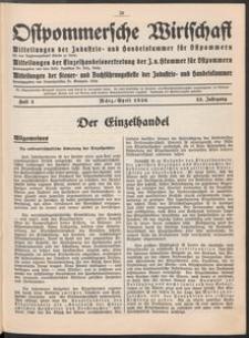 Ostpommersche Wirtschaft, Marz/April 1936, Heft 2