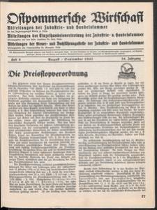 Ostpommersche Wirtschaft, August/September 1937, Heft 5