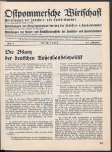 Ostpommersche Wirtschaft, Oktober 1937, Heft 6