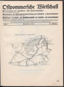 Ostpommersche Wirtschaft, November 1937, Heft 7