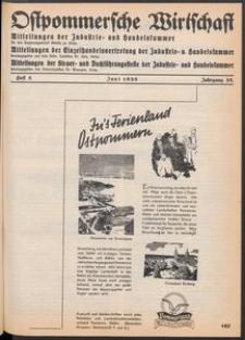 Ostpommersche Wirtschaft, Juni 1938, Heft 5