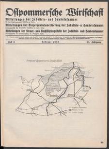 Ostpommersche Wirtschaft, Februar 1938, Heft 2