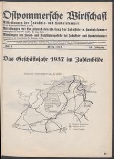 Ostpommersche Wirtschaft, Marz 1938, Heft 3