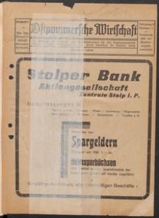 Ostpommersche Wirtschaft, Februar 1929, Nummer 1