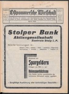 Ostpommersche Wirtschaft, April 1929, Nummer 2