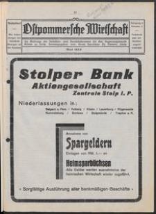 Ostpommersche Wirtschaft, Mai 1929, Nummer 3