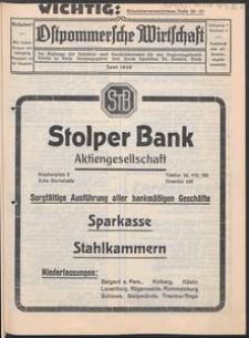 Ostpommersche Wirtschaft, Juni 1930, Nummer 3