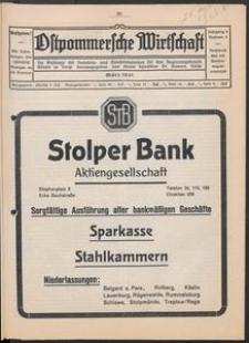 Ostpommersche Wirtschaft, Marz 1931, Nummer 2