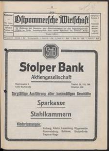 Ostpommersche Wirtschaft, Juni 1931, Nummer 3