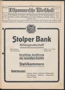 Ostpommersche Wirtschaft, Januar 1932, Nummer 1