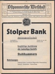 Ostpommersche Wirtschaft, August 1932, Nummer 4
