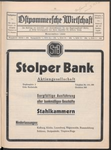 Ostpommersche Wirtschaft, November 1932, Nummer 6