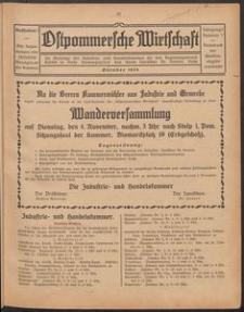 Ostpommersche Wirtschaft, Oktober 1924, Nummer 7