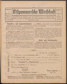 Ostpommersche Wirtschaft, Februar 1925, Nummer 2