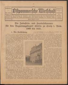 Ostpommersche Wirtschaft, Marz/April 1925, Nummer 3