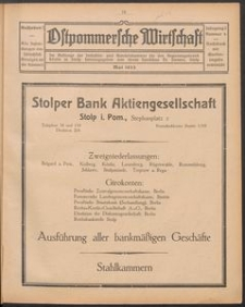 Ostpommersche Wirtschaft, Mai 1925, Nummer 4