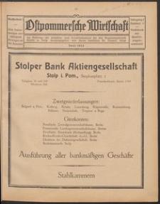 Ostpommersche Wirtschaft, Juni 1925, Nummer 5