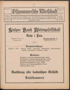 Ostpommersche Wirtschaft, September 1925, Nummer 7