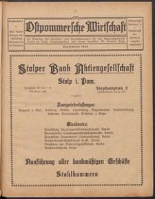 Ostpommersche Wirtschaft, September 1926, Nummer 3