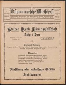 Ostpommersche Wirtschaft, November 1926, Nummer 5