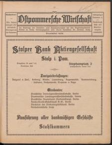 Ostpommersche Wirtschaft, Dezember 1926, Nummer 6