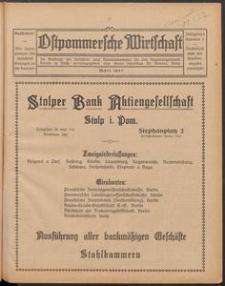 Ostpommersche Wirtschaft, Marz 1927, Nummer 2