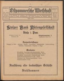 Ostpommersche Wirtschaft, Juni 1927, Nummer 4