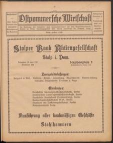 Ostpommersche Wirtschaft, November 1927, Nummer 6