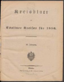Kreisblatt des Cösliner Kreises 1880