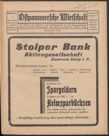 Ostpommersche Wirtschaft, Dezember 1928, Nummer 6