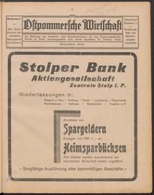 Ostpommersche Wirtschaft, November 1928, Nummer 5