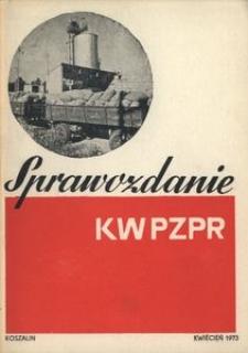 Sprawozdanie Komitetu Wojewódzkiego PZPR za okres marzec 1971 - marzec 1973