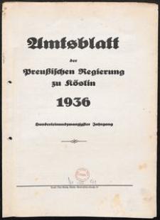 Amtsblatt der Preuβischen Regierung zu Köslin 1936