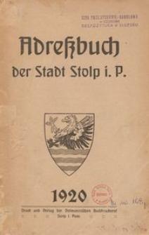 Adreβbuch der Stadt Stolp i. P. 1920