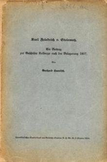 Carl Friedrich von Steinmetz. Ein Beitrag zur Geschichte Kolbergs nach der Belagerung 1807